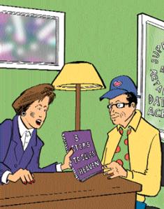 cartoon of geek at desk